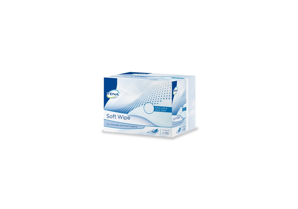 TENA SOFT WIPE - CARRES ABSBOND 19X30CM