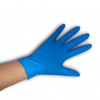 Gant d'examen nitrile bleu sans poudre Emilabo