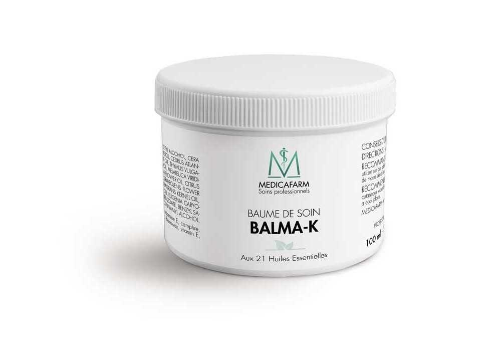 Baume de soin balma-k aux 21 huiles essentielles « chaleur douce» - pot 100 ml
